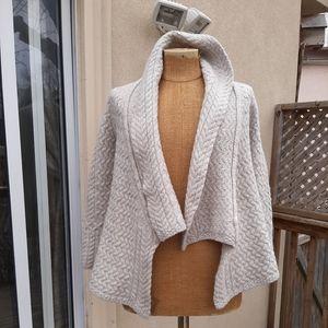 Irish wool size small light gray cardigan
